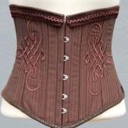 korsett-yourshape-unterbrust-braun-streifen-ornamente-steampunk-1