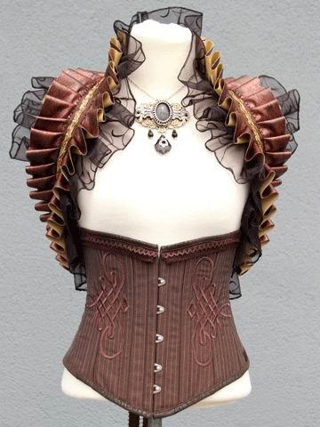 korsett-yourshape-unterbrust-braun-streifen-ornamente-steampunk