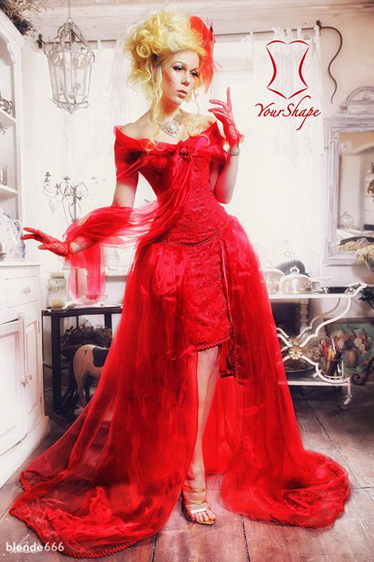 Brautkleid Rote Spitze Yourshape
