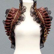 stola-yourshape-braun-kunstleder-organza-steampunk